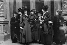 "Women at the Trial of Margaret Sanger (the woman who coined the term ""birth control"") in 1917. Her many arrests and prosecutions, and the resulting outcries, helped lead to changes in laws, giving doctors the right to give birth control advice (and later, birth control devices) to patients.   They were previously outlawed by The Comstock Law of 1873. © Bettmann/CORBIS"