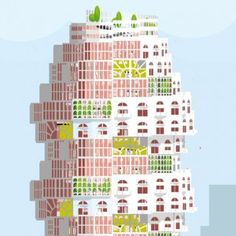 Elly Ward's conceptual tower offers a vision  of a child-friendly vertical city