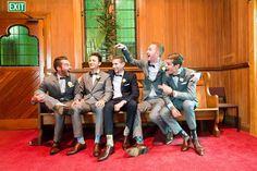 Groomsmen, St Geroge's Church, Epsom, Photography by L&G images, NZ wedding photographers. Markovina Vineyard Estate.