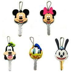 Mickey Mouse & Friends Minnie Donald Duck Goofy Oswald Rabbit Heads Disney Key Chain
