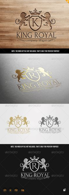 King Royal Logo — Photoshop PSD #fly #club • Available here → https://graphicriver.net/item/king-royal-logo/6755987?ref=pxcr
