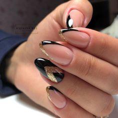 Almond Acrylic Nails, Cute Acrylic Nails, Cute Nails, Manicure Nail Designs, Nail Manicure, Nail Art Designs, Classy Nails, Stylish Nails, Perfect Nails