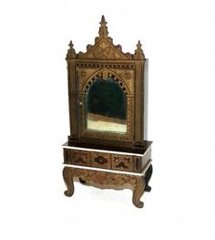 Boulle Mirrored Cabinet