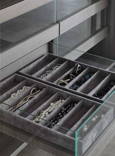 Velvet accessories drawer.