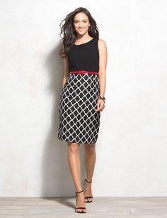 Belted Contrast Tile Print Dress    $64.50$39.99