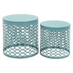 DecMode 17 in. Outdoor Accent Tables - Set of 2 | from hayneedle.com