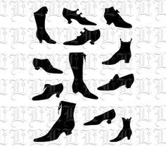 CLIP ART Victorian Fashion Shoes Clip Art by luminariumgraphics, $3.75