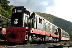 FCA and VALE Locomotive GM G-8, Trem da Vale: Touristic Train Ouro Preto to Mariana. Ouro Preto Yard, Ouro Preto - MG - Brazil.
