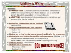 Adultery Is Wrong – 1 Bible Search, Presence Of The Lord, Bible Pictures, Bible Notes, Married Men, Godly Man, Religious Quotes, Marriage Advice, Christ