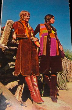 1970 Western suede dress and skirt Fashion by Pennelainer