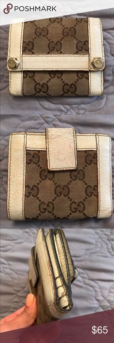 Gucci trifold wallet Needs TLC has wear as seen in pic no rips mainly discoloration. Gucci Bags Wallets