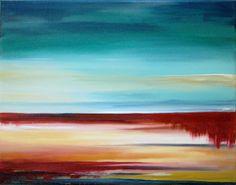 """""""Open Horizons II"""" Original Acrylic Canvas Painting by MaryElizabethArts"""