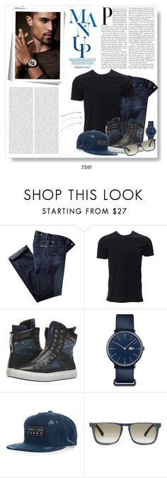 """Casual Man"" by talvadh ❤ liked on Polyvore featuring 7 For All Mankind, Simplex Apparel, Dsquared2, Lacoste, Mosevic, Oris, men's fashion and menswear"