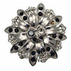 Clarkia Silver Crystal Scarf Clip
