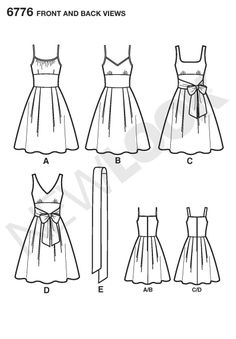Amazon.com: New Look Sewing Pattern 6776 Misses Dresses, Size A (8-10-12-14-16-18)
