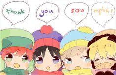South Park- Kyle, Stan, Cartman, Kenny #Cartoon #Anime