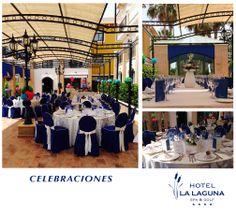 Celebraciones en la terraza, situada a la salida de Restaurante.