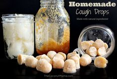 These natural homemade cough drops are made with natural ingredients like raw honey which is known to help suppress coughing and immune boosting coconut oil you can't go wrong with this natural alternative! Cold Remedies, Natural Health Remedies, Natural Cures, Herbal Remedies, Natural Life, Natural Skin, Drops Recipe, Homemade Coconut Oil, Raw Honey