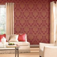 Bring your rooms an elegant appearance with this classic damask pattern wallpaper. With fine detail and refined lines, Louis by Romosa Wallcoverings surely give any wall in your rooms a classic beauty Metallic Wallpaper, Damask Wallpaper, Embossed Wallpaper, Wallpaper Panels, Striped Wallpaper, Textured Wallpaper, Wallpaper Roll, Wall Wallpaper, Pattern Wallpaper