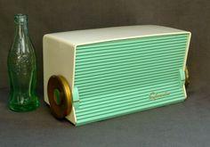 Sylvania Model R519 Antique Tube Radio From 1956 IN Seafoam Green White | eBay