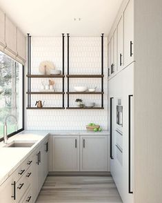 Browse photos of Small kitchen designs. Discover inspiration for your Small kitchen remodel or upgrade with ideas for storage, organization, layout and decor. Home Decor Kitchen, Rustic Kitchen, New Kitchen, Home Kitchens, Kitchen Ideas, Kitchen Small, Kitchen Photos, Kitchen Layouts, Condo Kitchen