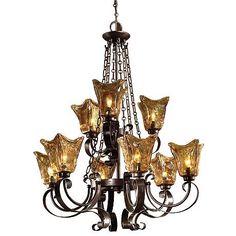 Uttermost Vetraio Collection Nine Light Chandelier