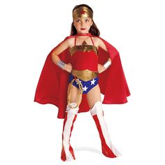 6 PC criança mulher maravilha traje de Halloween Kids traje do super herói com capa de super herói Disfraces Infantiles Superheroes Costumes
