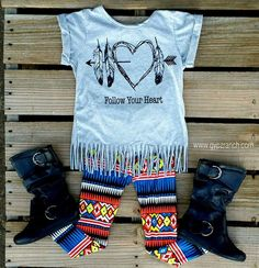 Kids Follow your Heart Fringe Top