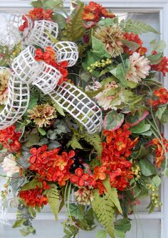 Spring Summer and Fall Wreath by HangingTouches on Etsy