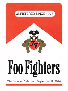 One of three posters I designed for the Foo Fighters RVA show. I also did a version of this in a sticker. #bestconcertofmylife
