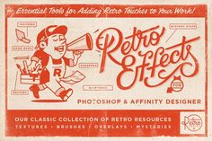 RetroEffects   Classic Collection by RetroSupply Co. on @creativemarket