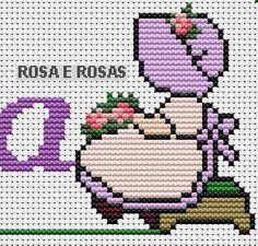 Frozen Cross Stitch, Cross Stitch Rose, Cross Stitch Baby, Cross Stitch Embroidery, Plastic Canvas Crafts, Plastic Canvas Patterns, Embroidery Patterns, Cross Stitch Patterns, Graph Crochet