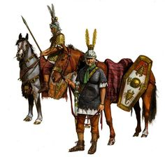 Equites singulares Augusti-cavalry offshoot of the Praetorian guard as it appeared during Trajanic period by Giorgio Albertini~amelianvs