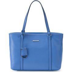 Dana Buchman Bella Tote ($40) ❤ liked on Polyvore featuring bags, handbags, tote bags, med blue, blue handbags, tote handbags, vegan leather tote, dana buchman handbags and handbag purse