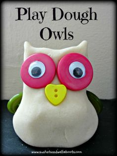 Play Dough Owls - Simple, seasonal, frugal fun!