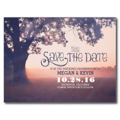 String lights tree enchanted save the date
