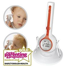 Brother Max One-Touch 3-in-1 Digital Thermometer - Best Baby & Toddler Health (Gold)