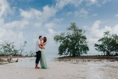 Check out this private island oasis for Megan and Josh's Engagement Session in Key West