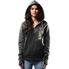 I just redeemed New Orleans Saints Majestic Women's Past The Line Synthetic Quarter-Zip Therma Base Hoodie - Black! Join New Orleans Football NOW so you can earn too!