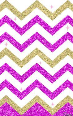 pink chevron wallpaper 2017 By Dnna Pink Chevron Wallpaper, Pink Wallpaper Backgrounds, Lock Screen Backgrounds, Phone Backgrounds, Cellphone Wallpaper, Iphone Wallpaper, Plum Art, Striped Background, Gold Walls