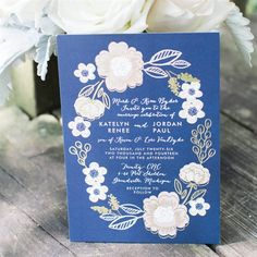 Love these floral invites!