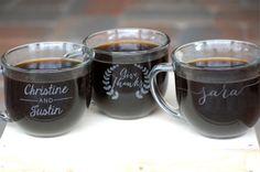 Custom Shop Coffee Mugs, collaborateur cadeau, Café Bar, faveurs de mariage personnalisé, cadeaux corporatifs, l