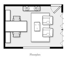 "Today's featured online design plan is a ""His and Her' Home Office we just designed for a couple moving into a new home with a big empty..."