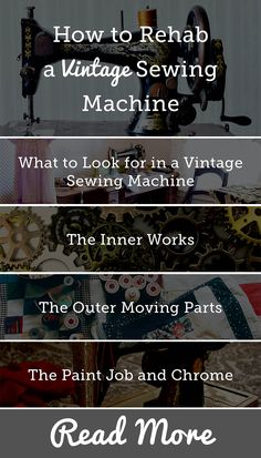 From Featherweights to classic Sewmor machines, vintage sewing machines make a beautiful addition to any quilting room. With their shining black bodies and gold art deco or swirl designs, they'll add a decorative touch to any room. Spend enough time searching auctions and flea markets for antique quilts and you'll eventually come across some of these antique beauties.