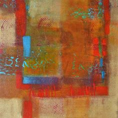 "Filomena de Andrade Booth ~ ""Open Window"" ~  12""x12""x1.5"" ~ Acrylic on canvas"