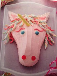 Horse or unicorn birthday cake!! Not sure any of my girls would like this but maybe I could change it abit to make it look more real