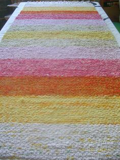 Recycled Fabric, Woven Rug, Handicraft, Recycling, Weaving, Rugs, Home Decor, Craft, Loom