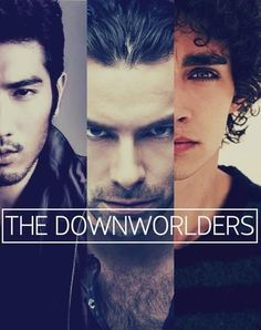 The Downworlders: Magnus Bane (Godfrey Gao), Luke Garroway-Lucian Graymark (Aidan Turner), Simon Lewis (Robert Sheehan).