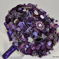 brooch bouquet with hydrangea