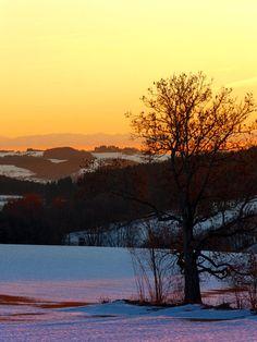 Colorful winter wonderland sundown V. Afiesl, Österreich / Austria